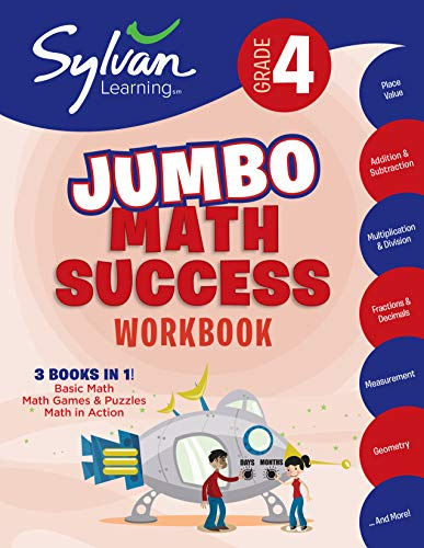 4th Grade Jumbo Math Success Workbook: Activities, Exercises, and Tips to Help Catch Up, Keep Up, and Get Ahead (Sylvan Math Jumbo Workbooks)