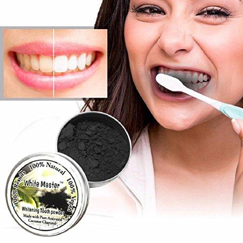 Natürliche Netto (Pulver Zähne Whitening Powder Natürliche Bio-Aktivkohle Bambus Zahnpasta Organische Pulver Zahn Whitening Active Carbon Aktivkohle)