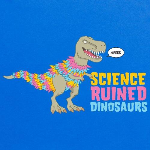 Science Ruined Dinosaurs T-shirt, Uomo Blu royal