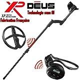 Xp Metal Detectors - Détecteur De Métaux Deus Light3 - Technologie Sans Fil - Casque Sans Fil Ws4 - Disque Dd 28 Cm Avec Protège Disque - Canne Télescopique En S
