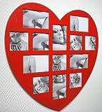 Bilderrahmen II ROT Herz Fotogalerie Fotorahmen 60 x 60 Collection Familie