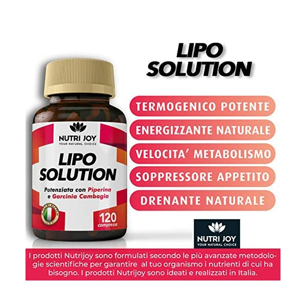 120 Compresse | Fat burner LIPO SOLUTION | Termogenico Naturale | MADE IN ITALY | Pillole Dimagranti Brucia Grassi… 5 spesavip