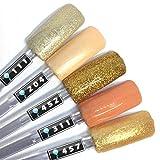 Color Gel 5er Set (je 5ml): Living Coral and gold - Kollektion - Gold, Orange und Co.