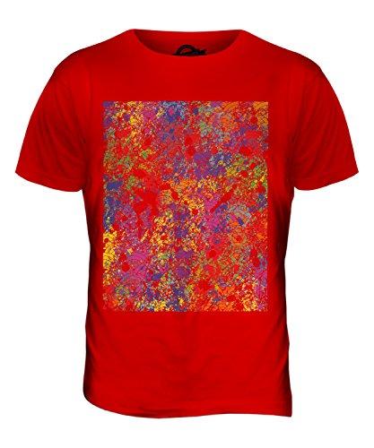 CandyMix Farbe Splatter Herren T Shirt Rot