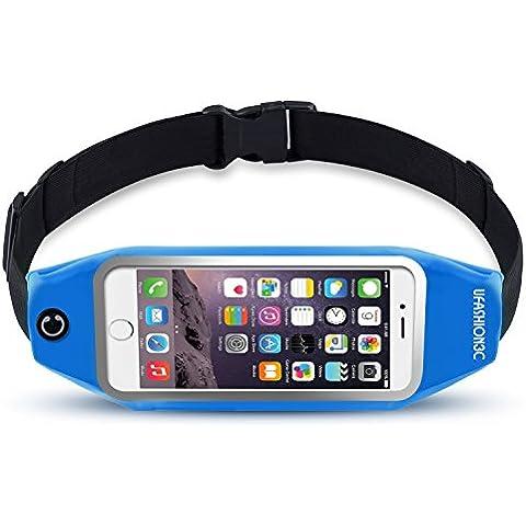 ufashion3C Soporte universal para teléfonos Running Cinturón de Cintura Bolsa Pack con cremallera, llavero, Nexus 6, 6P, iPhone 6, 6s, 6PLUS, 6s Plus, Samsung Galaxy S5, S6, S7, Edge, Note 2, 3, 4, 5–9Colores