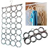 Scarf hanger multi display for tie belt holder 28 Circle Storage