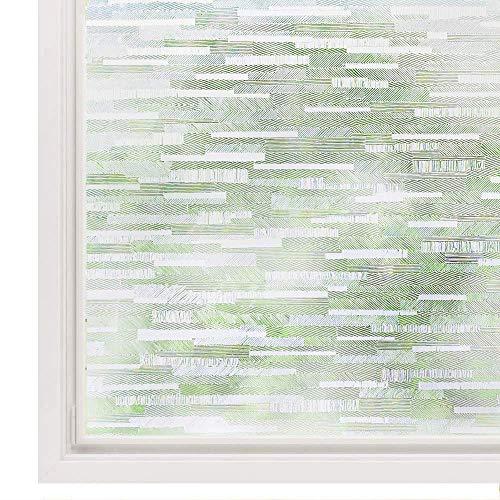 Rabbitgoo Vinilo Translucido Ventana Autoadhesivo Esmerilados Translucido Cristales para Baño Cocina Habitación Decorativos Protector Privacidad Anti 96% UV 44.5x200CM