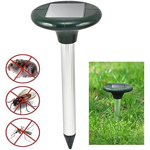 Drillpro 2 Pezzi Solare Mole Repeller, con LED lampada , Alimentato a solare energia , Contro talpa, arvicola, serpenti formica Per giardino di Campo Farm Grassland