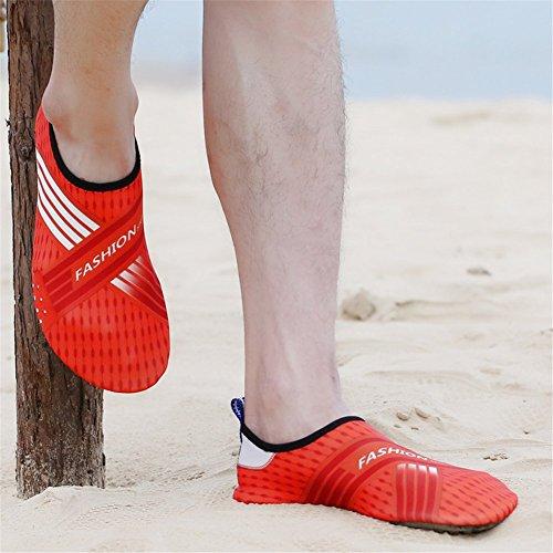 SAGUARO® Uomini e Donne Beach Swim Surf Calzature Yoga acqua, Aqua Socks arancia