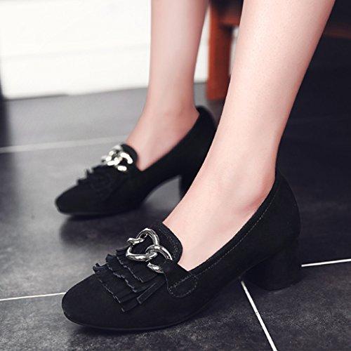 4d8e785b61b511 Taille Chaussures 39 Hauts Hwf Femme Été Gland Pédale Profonde Peu Queue  Casual À Une Simples Femmes Talons Couleur ...