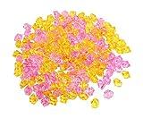 Sourcingmap Kunststoff Aquarium Kristall Stein eingerichtet, 15mm, 200Teile, pink/gelb