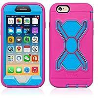 Pepkoo (Leistungsstark, stoßfest Handy-Cover für Apple iPhone 6/6S/Rosa/Blau
