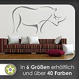 Nashorn Linien Wandtattoo in 6 Größen - Wandaufkleber Wall Sticker