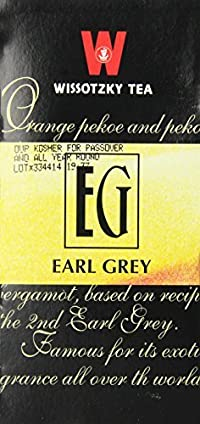 Wissotzky Earl Grey, 1.32-Ounce Boxes (Pack of 6)