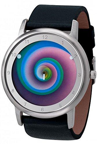 Avantgardia vertigo - (NEUES DESIGN), Armband:schwarzes Echtlederarmband