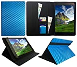 Bush Spira B3 10 Inch HD Tablet PC Blue 3D Cube Universal Wallet Case Cover Folio ( 10 - 11 inch ) by Sweet Tech