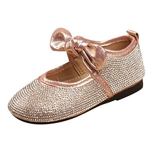 Zapatos de bebé, ASHOP Niña Casuales Zapatillas del Otoño Invierno Cristal Metal Princesa Bowknot...