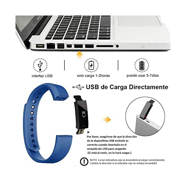 Rayfit Pulsera Actividad Inteligente Reloj Deportivo Fitness Tracker Monitor de Sueño Contador de Calorías Reloj Cuenta Pasos Ejercicio Salud Podómetro Pulsera Inteligente para Mujer Hombre Niños 7