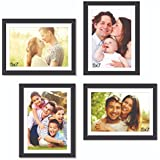 Set Of Picture Frames Premium Wall Collage Photo Frame Timeline (Black, Set Of 4 Wall Photo Frames) By Paper Plane Design, PPD (FrameWood_memories_007_New1)