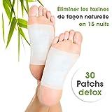 LOT X 30 patchs - DETOX FOOT PATCH - ELIMINE LES TOXINES DU CORPS