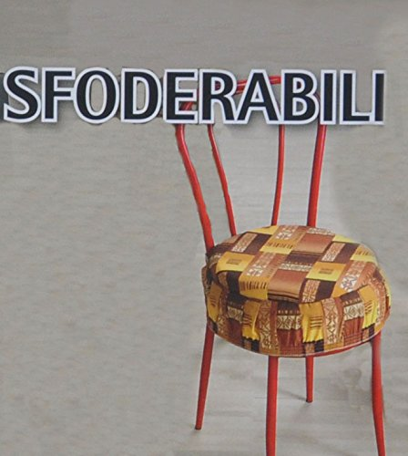 Eldorado cuscino copri sedia ROTONDO con fascia elastica [BORDEAUX]