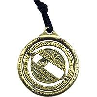 Steampunk Bronze Universal Schlüsselanhänger Uhr Solar Nautical Jewel Astronomie Halskette Educational Geschenk Unisex Tasche Zubehör Handgemachte Sonnenuhr