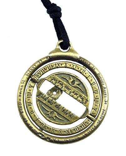 Steampunk Bronze Universal Schlüsselanhänger Uhr Solar Nautical Jewel Astronomie Halskette Educational Geschenk Unisex Tasche Zubehör Handgemachte Sonnenuhr (Sonnenuhr Uhr)