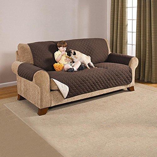 Lovehouse divano slipcovers animali un pezzo,divano copre protezione pet,copri divano per cani,divano protector reversibile -brown yellow 72*97in