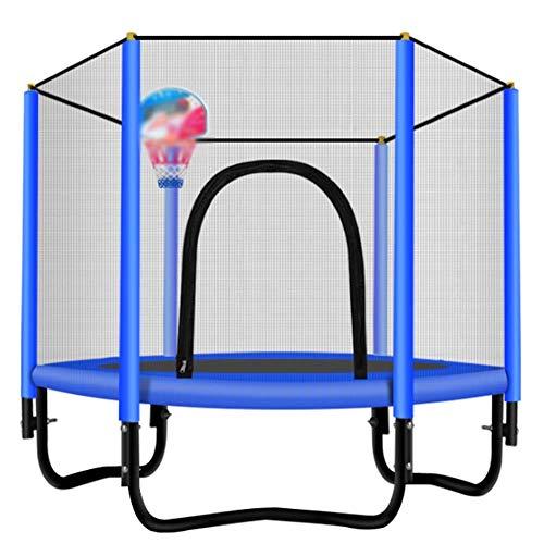 Shijinhao-tappeto elastico per bambini muto alta elasticità stabile durevole stand di pallacanestro resistente all'usura fitness bambino casa panno oxford (color : blue, size : 1.5x1.3m)