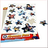 Fireman Sam Magnetic Stickers | 14 Pieces Room Decoration