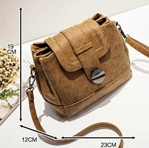 DHFUD Damen PU Schultertasche Handtasche Crossbody Persönlichkeit Vintage Black