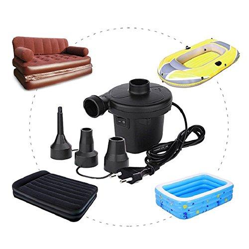 Schnell Elektrische Luftpumpe für Sitzsack, Schlauchboote, Gästebetten,Luftmatratzen und 150W/220-240V (TYPE-2)