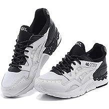 Asics Gel Lyte V - Zapatillas de Running de Material Sintético Para Hombre Blanco Blanco y Negro