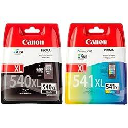 Canon - PG-540 XL & CL-541 XL - Cartouches d'Encre - Noir & Couleur