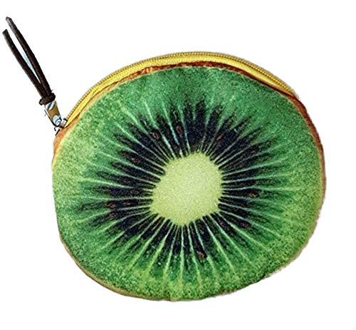 Lovinda Mädchen Kid Kreative Grüne Kiwi Geldbörse Niedlichen Cartoon Münze Brieftasche Kleine Münztüte Münze Schlüsselanhänger Halter Geld Tasche -