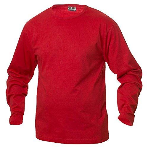 Clique - Langarm T-Shirt 'Fashion-T LS' rot (35)