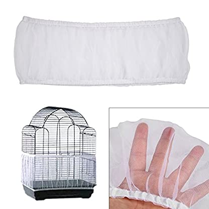 Estink Soft Ventilated Mesh Pet Bird Cage Seed Catcher Guard Cover Shell Skirt Decoration (White) 7