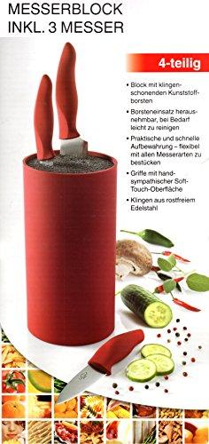 Messerblock rot inkl. 3 Messer