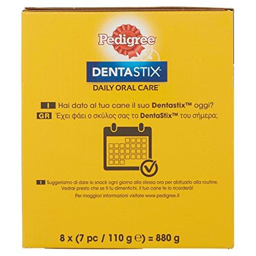 Pedigree DentaStix Hundesnack für kleine Hunde (5-10kg), Zahnpflege-Snack mit Huhn und Rind, 1 Packung je 56 Stück (1 x 880 g) - 5