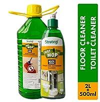 Herbal Strategi Floor Cleaner and Disinfectent 2 Litres, Toilet Cleaner 500ml (Pack of 2)