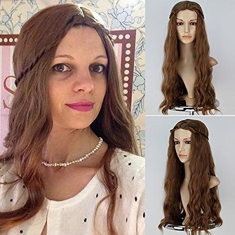 Miss U Hair Cersei Lannister Long Wavy Brown Wig with Braid Cosplay Anime Wig 1 by Miss U Hair