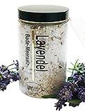 Badesalz Geschenk Lavendel Bade-Meersalz aus dem Toten Meer, Badezusatz 450 g