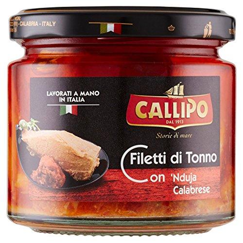 Filetti di tonno Callipo con nduja calabrese, 200 g (vasetto di vetro)