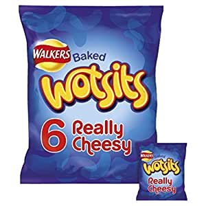 Walkers Baked Wotsits Really Cheesy Flavour Corn Puffs 6 x 16.5g