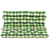 Ambientehome 2Banco Asiento y respaldo cojín cojines, cuadros verde, ca 120x 98x 8cm, para banco, cojines acolchados