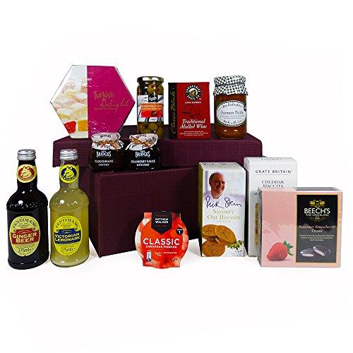 La caja de regalo de lujo de Nottinghill Cesta de la comida (12 artículos) - ideas del regalo para el día de madres, el cumpleaños y más