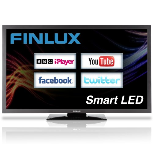 Finlux 55 Inch Full HD 1080p DLNA LED Smart TV with Freeview HD 100Hz Widescreen Black - 55S8090-T