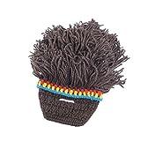 YiLianDa Stück Lustige Mütze mit Bart Bartmütze Stricken Wolle Hüte Neutrum Perücke Bart Fur Herren