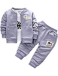 b27375476 BINIDUCKLING Bebé Abrigo de niños+Pantalones + Camisas Conjuntos de ropa  para niños Pequeños conjuntos