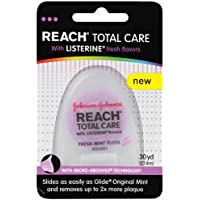 Reach Total Care floss with Listerine Fresh Flavors, 30 Yard (Pack of 3) by Reach